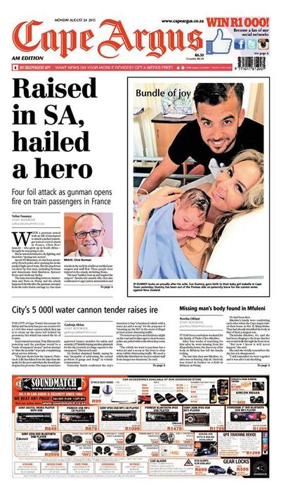 Cape Argus, The (Main Body) Cover