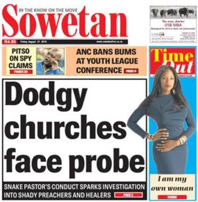 Sowetan (Main Body) Cover